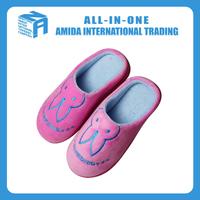 High quality customized winter cartoon cute cotton slipper
