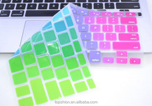 Eco-friendly China factory silicone colorful keyboard protector cover for Macbook, for macbook accessories