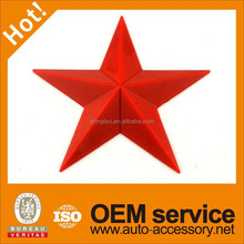 Plastic red star badge emblem