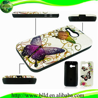 Water printing TPU+PC combo case cellular accessories wholesale for Huawei Y220