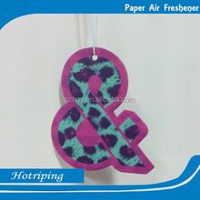 Car air washing customized size shapes hanging air freshener