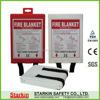 Different kinds of non asbestos fire blankets with PP hard box