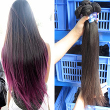 Easy to color natural human hair close brown 100% unprocessed brazilian hair