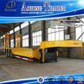 Precio competitivo 40-60ton 3 extensible eje del remolque de cama baja/bajo camión semi remolque/low boy camiones semirremolque