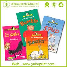2015 hot sale popular children english story free design light coated paper perfect binding printing comic book printing