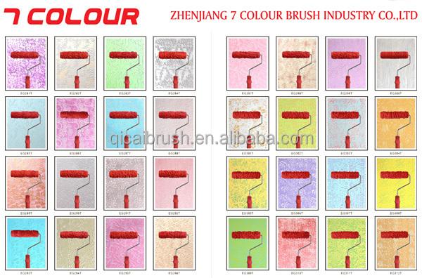 Texture Paint Roller BrushPaint Roller ToolsRubber Pattern Roller