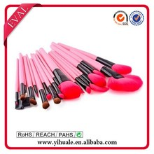 2014 New Style Cosmetic Brush Set with wood handle