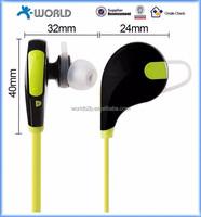 2015 newest neckband in-ear bluetooth 4.0 wireless super mini stereo bluetooth headset