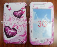 Twin heart hard case skin faceplate cover for iphone 3g,3gs