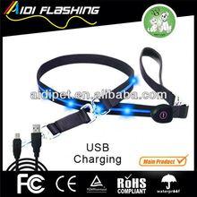 LED pet webbing lead/retractable metal dog leash