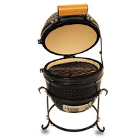 Smoke free bbq grill 13 inch mini bbq kamado grill charcoal wood fired oven
