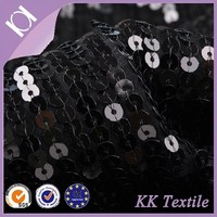 China manufacturer knitting bottom strips 5 mm sequin and beaded fabric