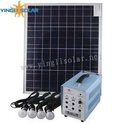 60W/18V with 5pcs 5w lamp solar lighting kit