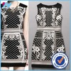 Top Quality Women Clothes European Design 2015 Summer Women Allover Embroidery Slim Fit Bodycon