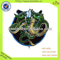 custom best quality dragon shape designer embroidered patches
