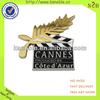 movie logo custom gold metal emblem badge