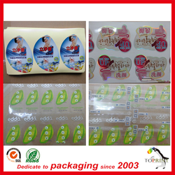 self adhesive thick vinyl sticker plastic label customized printing