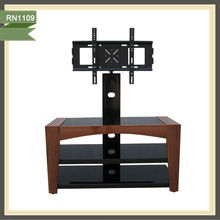 Glass and wood cheap mdf wooden led tv stand RN1109