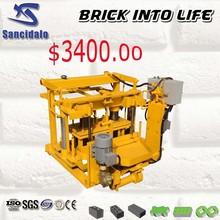 QT40-3A press machine clay brick, stone dust brick machine, hydraulic press brick making machine
