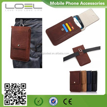 Vertical Leather Magnetic Closure Case Bag Holster Pouch with Belt Clip for Apple iPhone 5/5s/5c/6/6 Plus Samsung