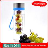 lower price custom logo fruit infusion water bottle bpa free factory directly