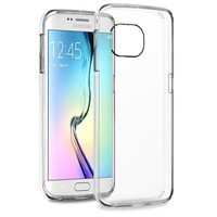 Crystal Clear Bumper Ultra Transparent Case Soft TPU Hard Back Protective Case For Samsung Galaxy S6 Edge