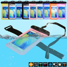 6 Inch PVC Waterproof Bag for Phone With Arm Strap for IPhone 6 Plus