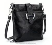 2015 New Fashion Handbags Genuine Leather Cross Body Women's Purses Black Shoulder Bags