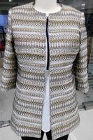 Fashion Ladies long coat without coat