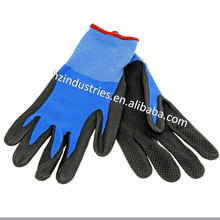 Factory cotton work gloves with rubber grip dots for sale