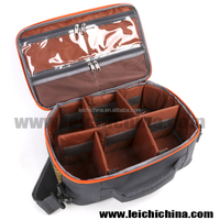 adjustable six compartment 600D waterproof fly fishing bag