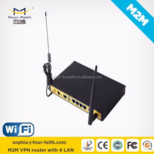 HSDPA Wireless Router 3g wifi router with sim card slot & RS232/485 & 4 LAN ports(RJ45) support VPN & QoS