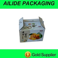 Food package corrugated container carton