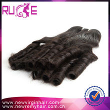 Pure excellent hair extension no mix weft weave romance curl