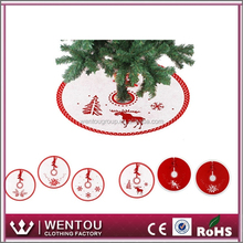 Deer and Pine Trees Christmas Small Tree Skirt