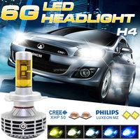 New Model 3000lm Fanless Super Bright P43T 9003 HB2 H4 LED Offroad Lighting
