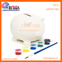 PAINT YOUR OWN KIDS MONEY BOX PIGGY BANK