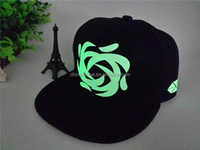 2015 new design hot sale custom hip pop dancing fashion luminous flat brim snapback cap and hat