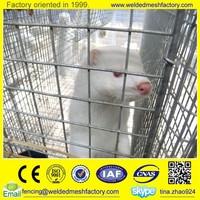 Mink/rabbit/bird breeding welded wire mesh cage with wooden box