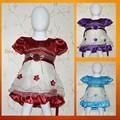 Pequeño MOQ y barato nuevo vestido de diseño mixto y tamaños vestido de moda en línea vestido de la muñeca con cordones de juegos de niñas CLBD-538