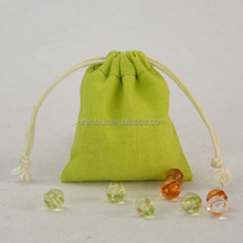 Jute cotton blend cloth pouch from mexican beaded jewelry