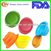 Unbreakable colorful fruit bowl folding