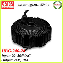 Meanwell constant current led driver HBG-240-24