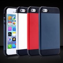 Gel TPU + PC Back Cover For Iphone 4 4S 4G Super Soft Tough Hybrid Slim Case For Iphone4 With Original Brand Logo