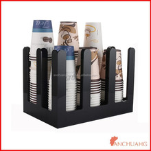acrylic cafe drink store coffee cup dispenser