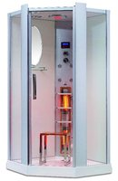 Luxury Aluminium Colunm and Glass Infrared Steam Shower room, shower cabin K023