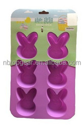 Silicone easter rabbit cake mold Easter silicone bakeware /Silicone baking pan