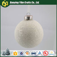 Newest holiday decoration glass ball with rope