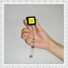 square badge reel for ID car holders