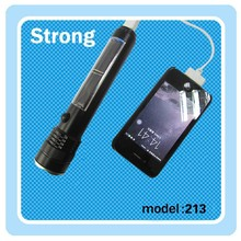 Rechargeable LED solar torch light with USB interface